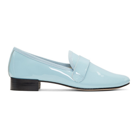 For  Sale: Light blue patent leather Loafers Size 9