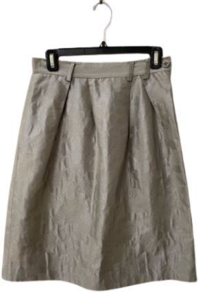 Re-sell:  Silver floral Skirt Size 8-10