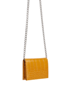 Re-sell: Crossbody In Yellow With Chain