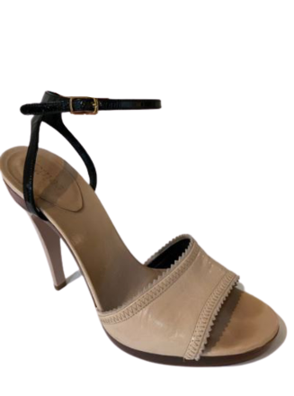 For  Sale: Tan open toe Heels Size 8-8.5