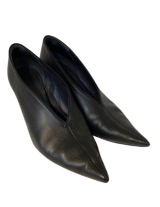 For  Sale: Black soft leather pointy toe booties Size 8-8.5