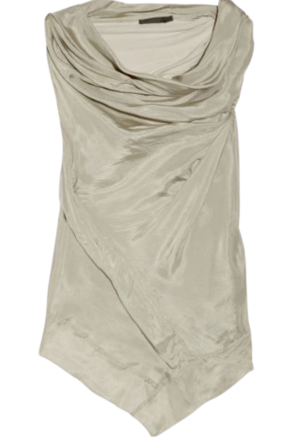 Re-sell: New York Asymmetric washed silk-habotai top Size 10