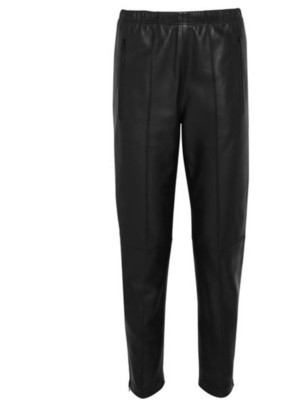 Buy: Black Leather Track Pants