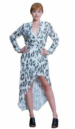 Buy: White leopard print dress Size 12