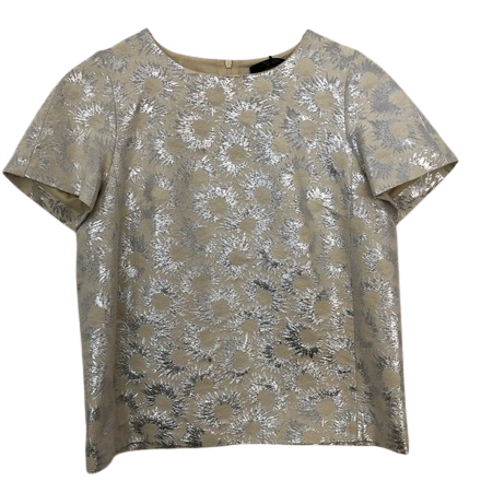 Re-sell: Weekend Cream Floral Lurex Detail Falena Top BNWT Size 6