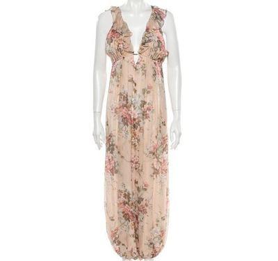 Buy: Silk Floral Print Jumpsuit Size 8