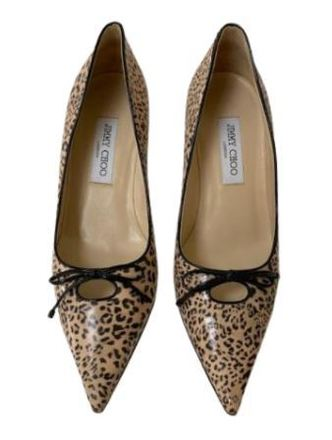Re-sell:  Leopard heels with bow Size 9.5