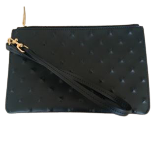 Buy: Black studded embossed pouch BNWT