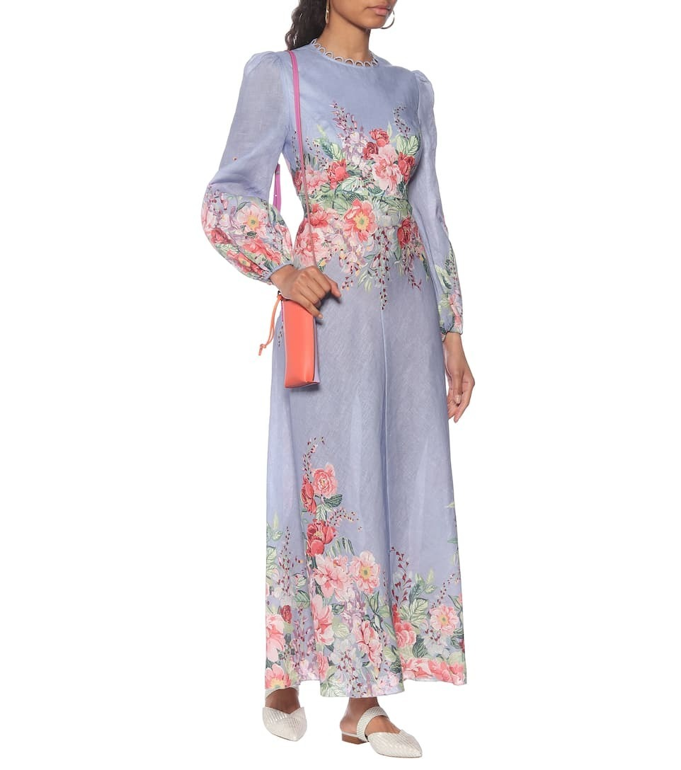 Rent: Belitude Floral linen midi dress Size 10