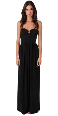 Buy: Ruched bustier silk maxi dress Size 6
