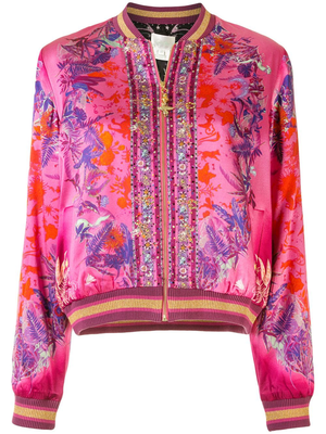 Rent: Tropic of neon Bomber jacket in pink Size 8