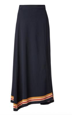 Buy: Crepe knit stipe wrap skirt navy Size 8