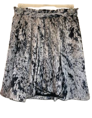 Re-sell: Abstract Print Silk Skirt Size 8