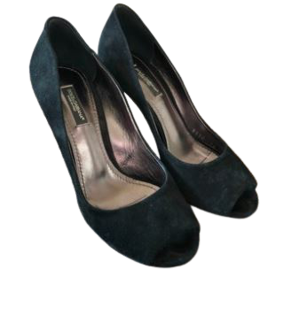 Re-sell: Suede Peep toe Heel Pumps Size 6