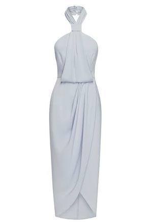 Rent: Powder Blue Draped Dress BNWT