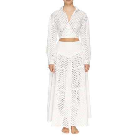 Re-sell: ZIMI WRAP TOP & SKIRT - BLANC // BRODERIE ANGLAISE (BNWT)