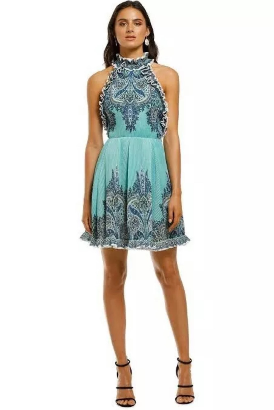 Rent: Moncur Frill Mini Dress Size 6