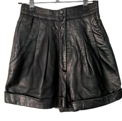 Buy: Black leather shorts Size 6