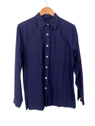 Rent: Navy drill shirt Size 14