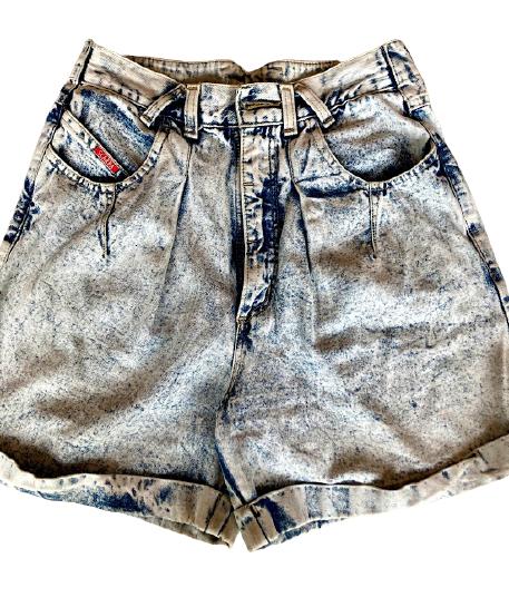 Buy: 80s acid wash denim shorts Size 8