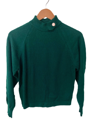 Buy: Forest green knit with buttoned neck Size 10
