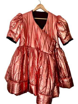 Rent: Copper quilt dress coat Size 10