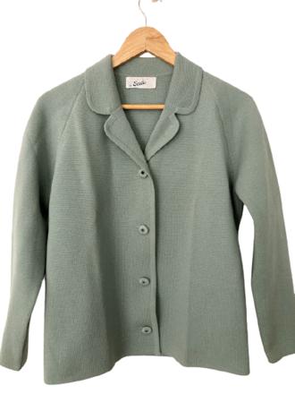 Rent:  60s pure wool sage suit Size 10