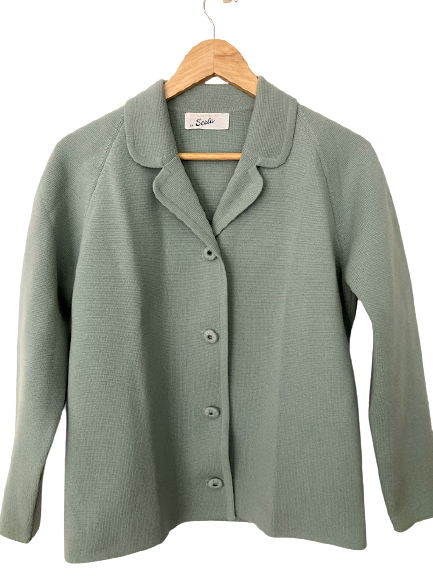 Rent:  60s pure wool sage suit Size 10