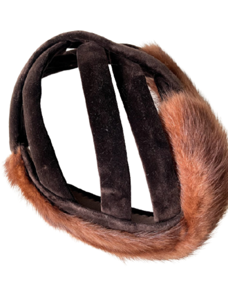 Rent: 1950s real fur and velvet hat