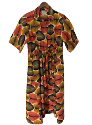 Rent: drawstring midi dress in Broadleaf Size 10