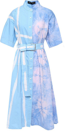 Buy: Flared belted printed cotton-poplin dress Size 10
