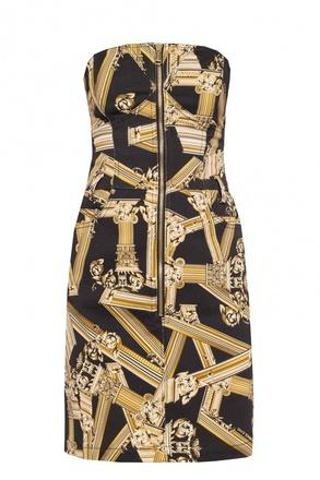 Buy: Baroque-printed denim dress Size 4