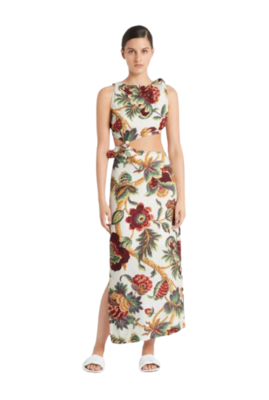 Rent: Knot dress in ambroise print Size 8