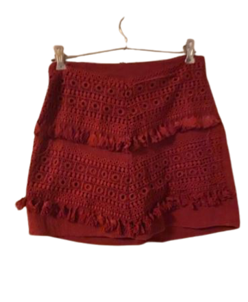 Buy: Boho burgundy skirt Size 8