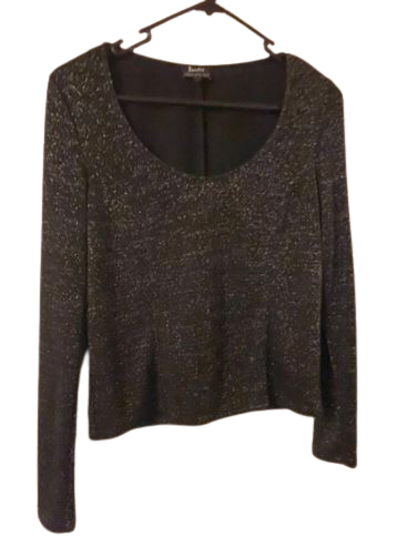 Buy: Black long sleeve sparkly top Size 10