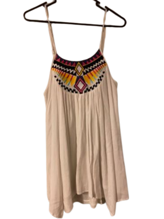 Buy: White dress with Aztec design Size 8