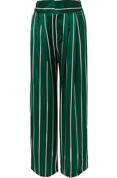 Buy: Love unconditionally striped silk wide leg pants BNWT Size 8