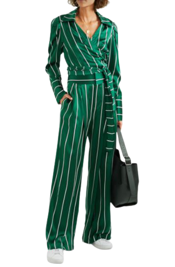Buy: Love unconditionally green striped satin shirt Size 10