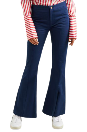 Buy: She's Still A Dreamer Cotton Flared Pants In Navy Size 8