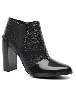 Buy: Black Patent Ankle Boots Size 10.5-11