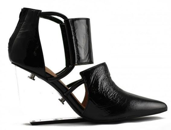 Buy: Patent and Perspex Heels Size 10-10.5