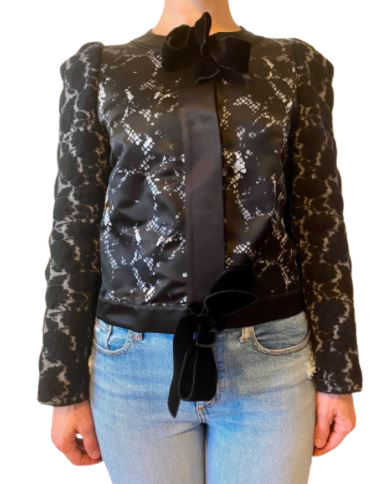 Buy: Boiled wool cardigan with lace Size 10