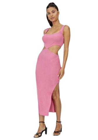 Rent: Pink cut out dress Size 8