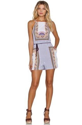 Buy: Dalmatia Print Strappy Playsuit Romper Size 6-8