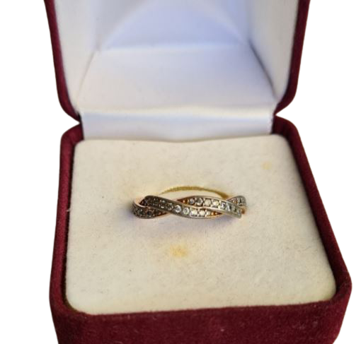 Buy: Rose Gold Diamonte Ring