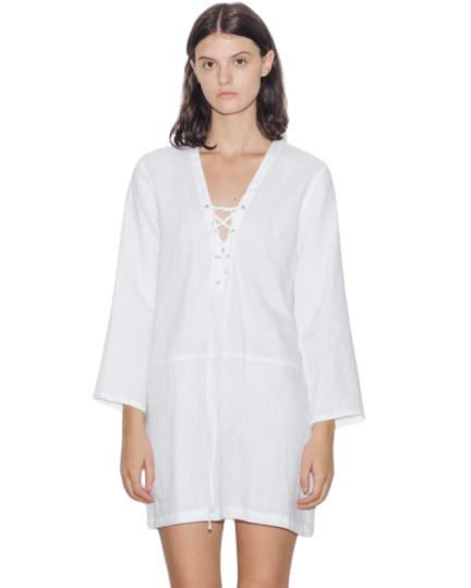 Buy: White linen mini dress Size 8