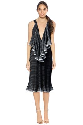 Rent: The Lucy Iris Pleat Dress BNWT Size 8-10