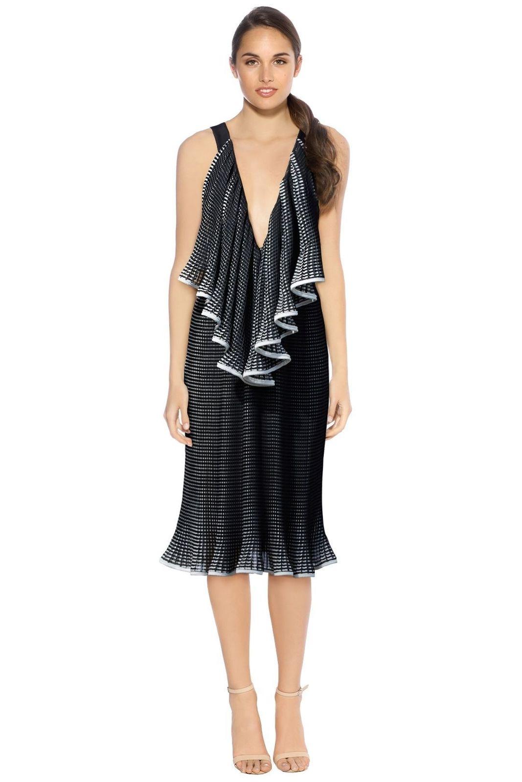 Rent: The Lucy Iris Pleat Dress BNWT Size 8-10