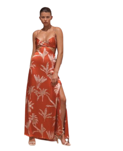 Buy: Silk Palm print dress Size 6