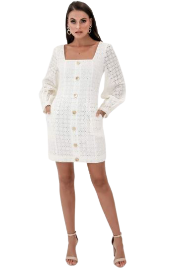 Buy: Sookie Shift Mini Dress White BNWT Size 10